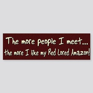 More People Red Lored Amazon Bumper Sticker