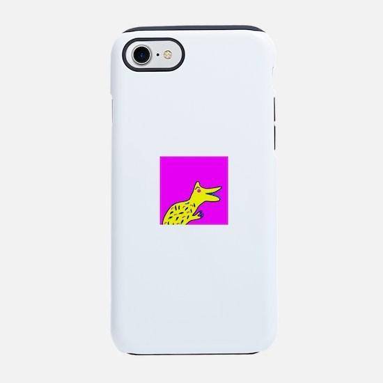 Pink Cute Smiling Dinosaur T iPhone 8/7 Tough Case