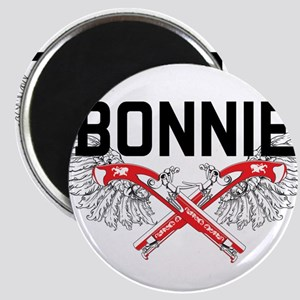 Bonnie and clyde hat Magnets