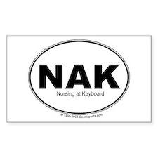 NAK Nursing at Keyboard Rectangle Sticker