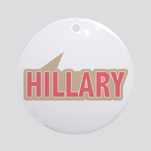 I Say Vote Hillary Clinton Pink Ornament (Round)