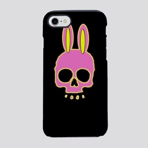Easter Bunny Skull on Black iPhone 8/7 Tough Case
