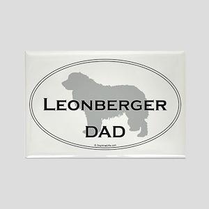 Leonberger Dad Rectangle Magnet