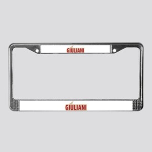 I say Vote Rudy Giuliani Red License Plate Frame
