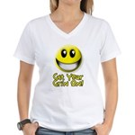 Get Your Grin On Women's V-Neck T-Shirt