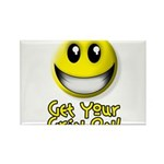 Get Your Grin On Rectangle Magnet