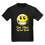 Get Your Grin On Kids Dark T-Shirt
