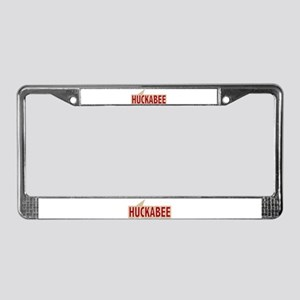I say Vote Mike Huckabee Red License Plate Frame