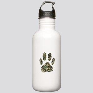 Distressed Camo Dog Pa Stainless Water Bottle 1.0L