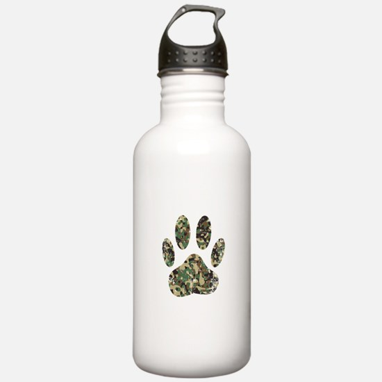 Distressed Camo Dog Pa Water Bottle