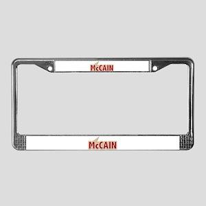 I say Vote John McCain Red License Plate Frame