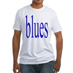 340.blues.. Fitted T-Shirt