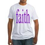 341. faith [purple] Fitted T-Shirt