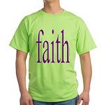 341. faith [purple] Green T-Shirt