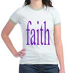 341. faith [purple] Jr. Ringer T-Shirt