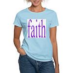341. faith [purple] Women's Pink T-Shirt