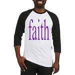 341. faith [purple] Baseball Jersey