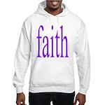341. faith [purple] Hooded Sweatshirt