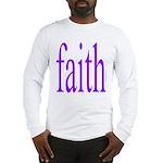 341. faith [purple] Long Sleeve T-Shirt
