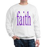 341. faith [purple] Sweatshirt
