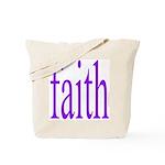 341. faith [purple] Tote Bag