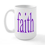 341. faith [purple] Large Mug
