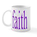 341. faith [purple] Mug