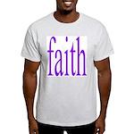 341. faith [purple] Ash Grey T-Shirt