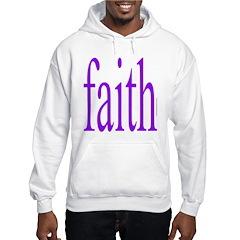 341. faith [purple] Hoodie