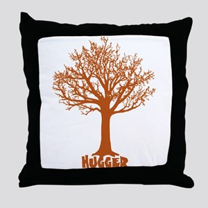 TREE hugger (red) Throw Pillow