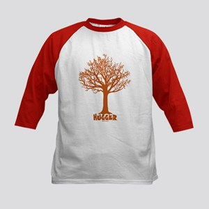 TREE hugger (red) Kids Baseball Jersey