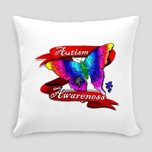 Autism Awareness Butterfly Design Everyday Pillow