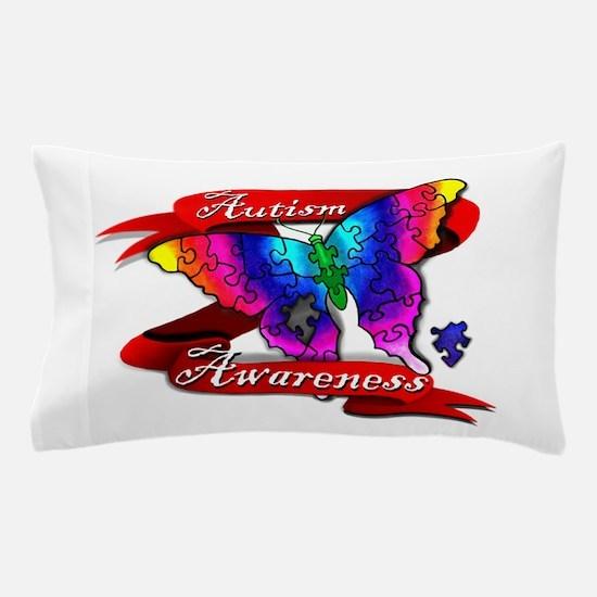Autism Awareness Butterfly Design Pillow Case