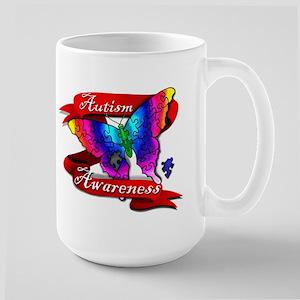 Autism Awareness Butterfly Design Mugs