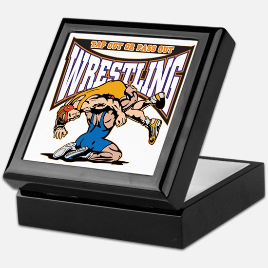 Tap Out or Pass Out Wrestling Keepsake Box