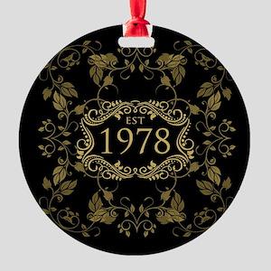 1978 Birth Year Round Ornament