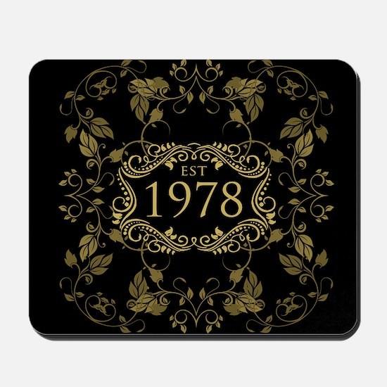 1978 Birth Year Mousepad