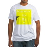 352.learnin' to fly..? Fitted T-Shirt