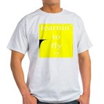 352.learnin' to fly..? Ash Grey T-Shirt