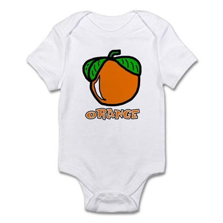 Orange Infant Bodysuit