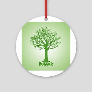 TREE hugger (green) Ornament (Round)