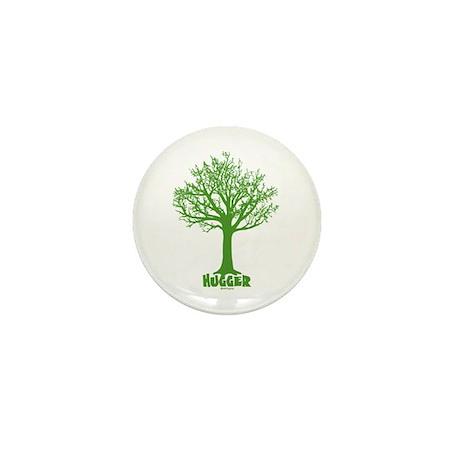 TREE hugger (green) Mini Button