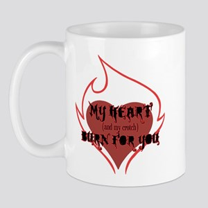 My Heart & Croch Burn for You Mug