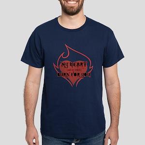 My Heart & Croch Burn for You Dark T-Shirt