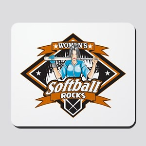 Women's Softball Rocks Mousepad