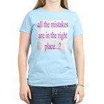 351. all the mistakes... Women's Pink T-Shirt