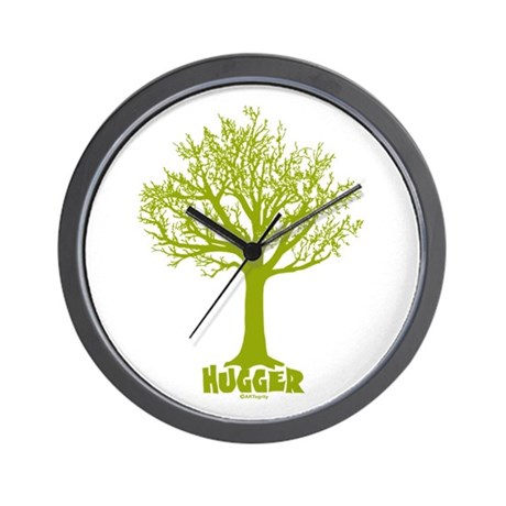 TREE hugger (light green) Wall Clock