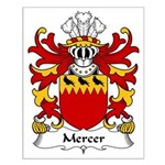 Mercer Family Crest Small Poster