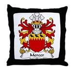 Mercer Family Crest Throw Pillow