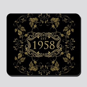 1958 Birth Year Mousepad